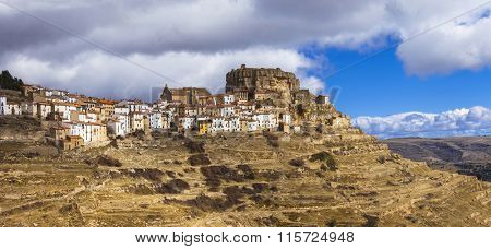 beautiful village Ares del Maestre in Castellon, Spain