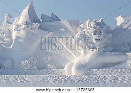 Beautiful Snow Woman