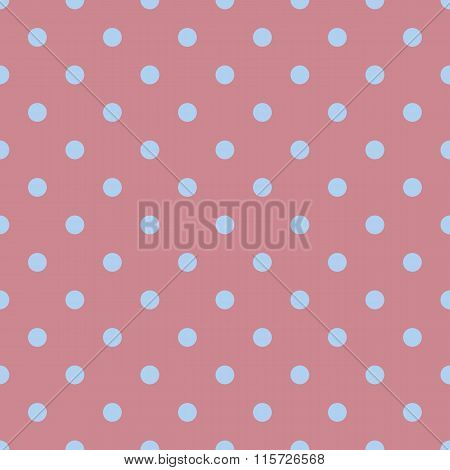 Seamless Polka Dot Red Pattern With Circles