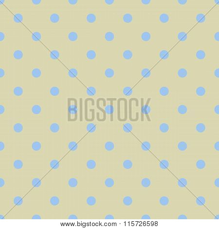 Seamless Polka Dot Yellow Pattern With Circles