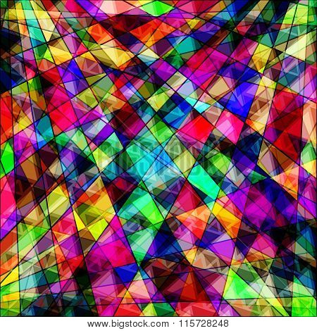 Polygons Psychedelic Bright Abstract Geometric