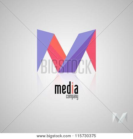 Abstract colored vector logo. Play logo. Media logo. Multimedia logo. Company logo