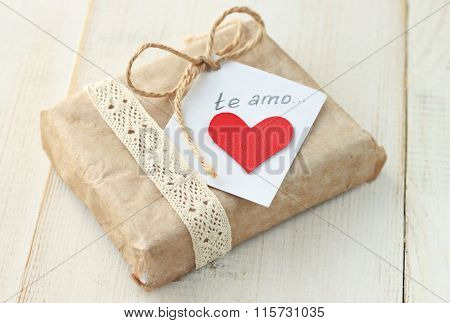 Gift with love note