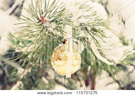 Winter season holiday decor