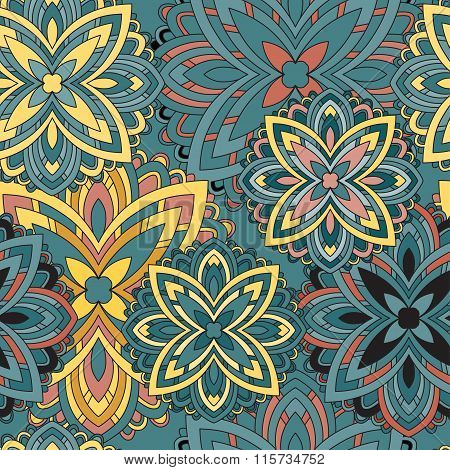 Mandala. Vintage Decorative Elements. Seamless Pattern.