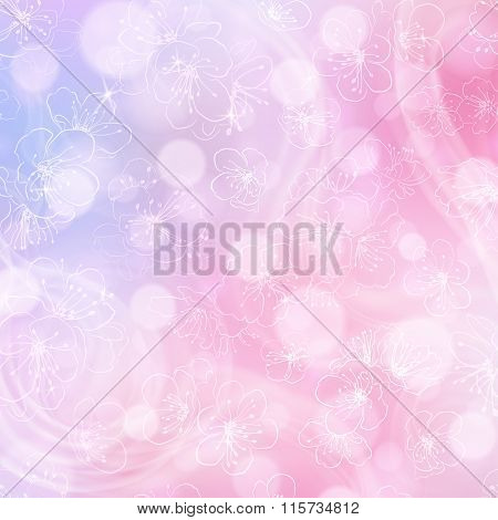 Flower Background In Pink Colors