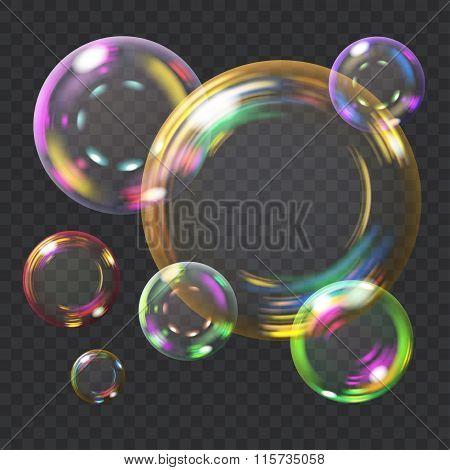 Multicolored Soap Bubbles