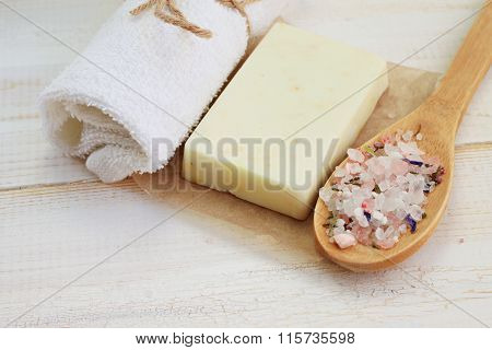 Soap bar with sea salt i