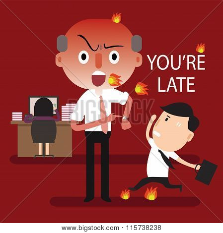 boss angry you're late