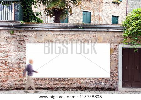 Billboard With Copy Space On The Wall In Venice