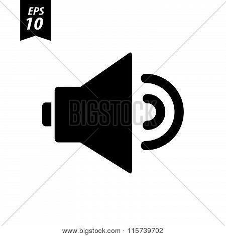 Volume Icon On White Background
