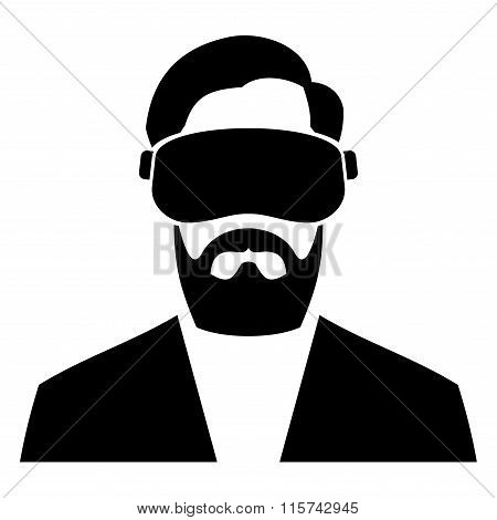 Virtual Reality Headset Icon. Vector