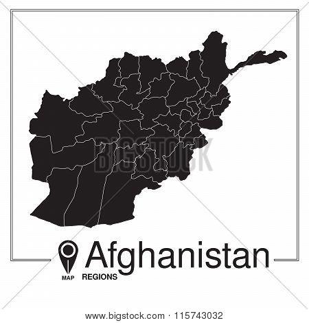 Afghanistan Regions Map