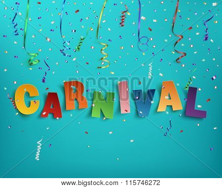 Handmade typographic word carnival.