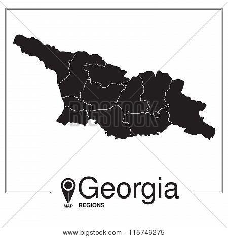 Georgia Regions Map