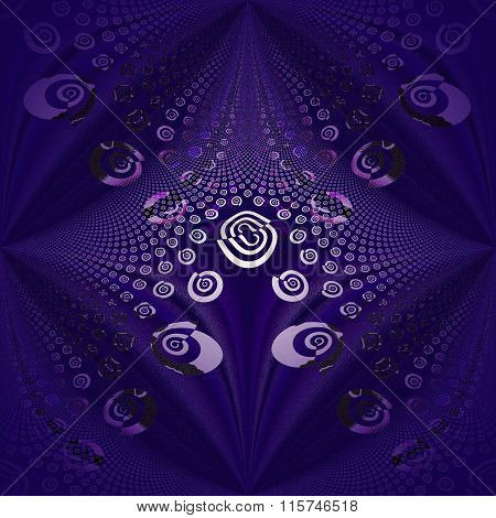 Seamless spiral pattern purple white black