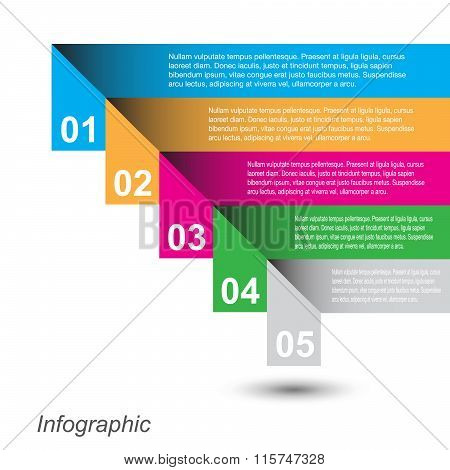 Infographic design. Ideal for statistic data display.