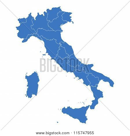 Regions Map Of Italy