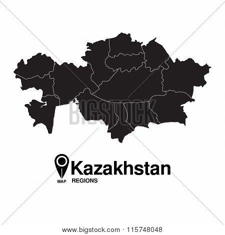 Regions Map Of Kazakhstan