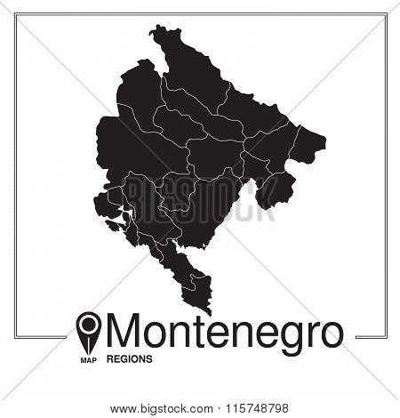 Montenegro Regions Map