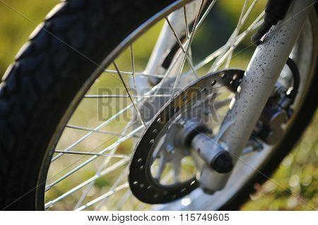 Wheels Of Enduro Motorcycle