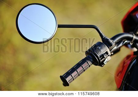 Mirror Of Enduro Motorcycle