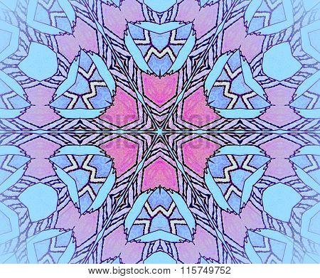 Seamless ornament turquoise blue violet purple