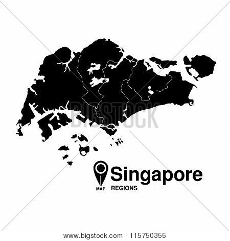 Regions Map Of Singapore
