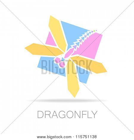 Dragonfly logo -  dragonfly vector. The idea for the company logo.