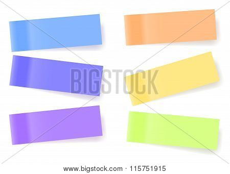 Sticky Notes, Nine Different Colors, Vector Eps10 Illustration