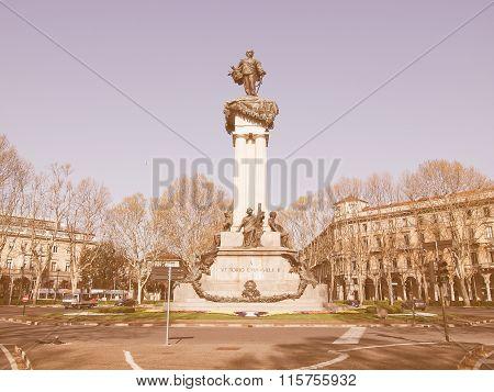 Vittorio Emanuele Ii Statue Vintage