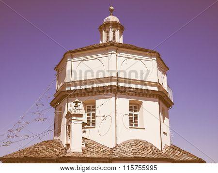 Monte Cappuccini Church In Turin Vintage