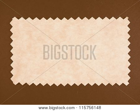 Brown Paper Sample Vintage