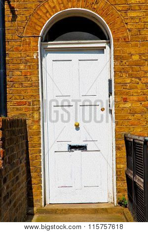 Notting   Hill  Area  In London England Old Suburban And Antique Yellow  Wall