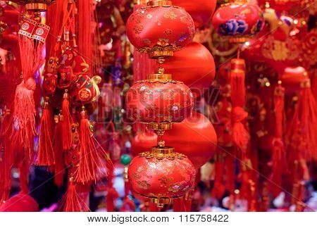 Traditional Chinese red decorations