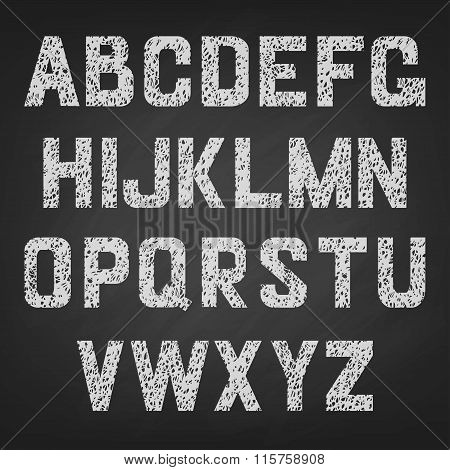 Vector alphabet of chalked.