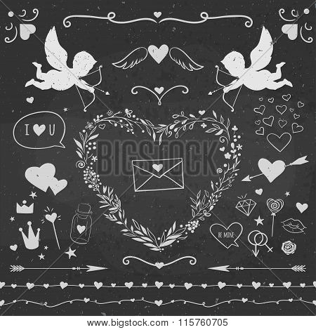 Valentine's day decorative vector set