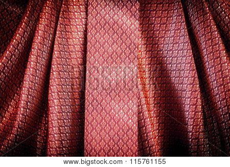Red  Thai Pattern Textile