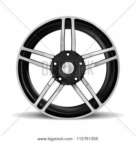 Wheel Rim, Vector Car Rim, Alloy Wheels