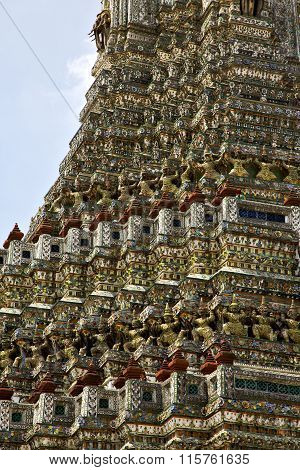 Asia  Thailand  In  Bangkok   Cross Colors  Roof Wat  Palaces      Mosaic