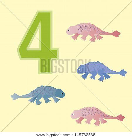 Number 4. Four Dinosaur (ankylosaurs).
