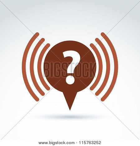 Question mark icon faq support vector conceptual symbol for your design.