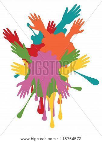 Cartoon Hands With Gestures
