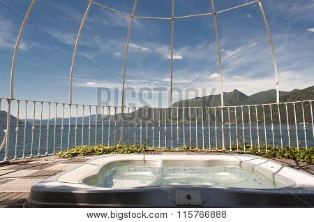 Tub With A View Of Lake