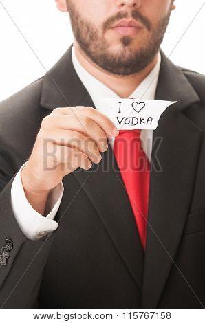 I Love Vodka Concept.