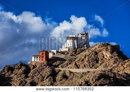 Namgyal Tsem gompa and fort. Leh, Ladakh, Jammu and Kashmir, India