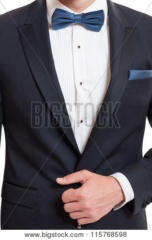 Elegant Concept Using Suit And Bowtie.