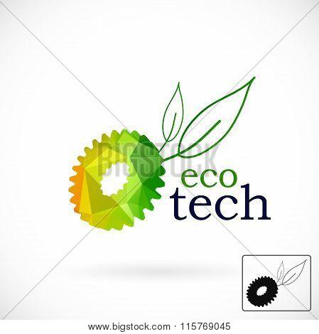 Eco Logo, Geometric Style