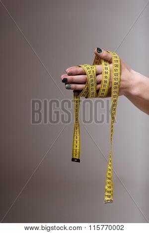 Tape Measure Around Hand