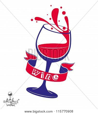 Alcohol Theme Vector Art Illustration